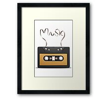 Audio tape retro music Framed Print