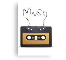 Audio tape retro music Canvas Print