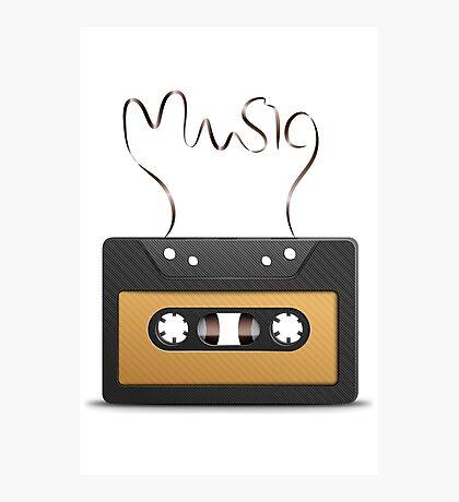 Audio tape retro music Photographic Print