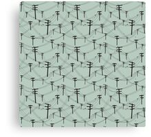 telephone lines pattern Canvas Print