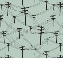 telephone lines pattern Sticker
