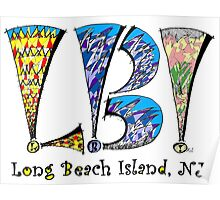 Beach Day Long Beach Island LBI NJ Poster