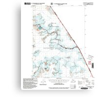 USGS TOPO Map Alaska AK Sumdum B-2 359370 2000 63360 Canvas Print