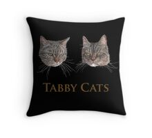 Tabby Cats Throw Pillow