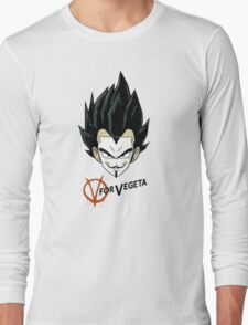 V for Vegeta Long Sleeve T-Shirt