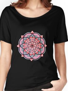 Red mandala Women's Relaxed Fit T-Shirt