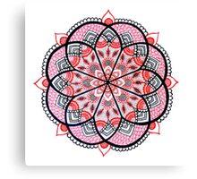 Red mandala Canvas Print