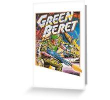 Konami Green Beret Video Game  Greeting Card
