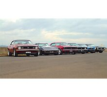 Line up of Muscle Photographic Print