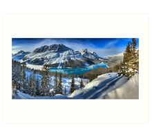 Peyto Lake Winter Paradise Art Print