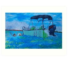 Rick's Boat in Tampa Bay Art Print