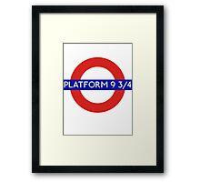 Fandom Tube- PLATFORM 9 3/4 Framed Print