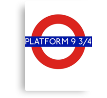 Fandom Tube- PLATFORM 9 3/4 Canvas Print