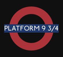 Fandom Tube- PLATFORM 9 3/4 Kids Tee