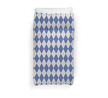 Blue Argyle Pattern Duvet Cover