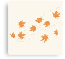 The flying autumn leaves Canvas Print