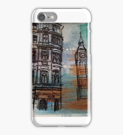 You and I, Big Ben Ink Drawing iPhone Case/Skin