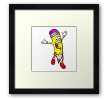Happy Pencil Framed Print