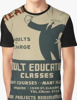 Vintage poster - Adult Education Graphic T-Shirt