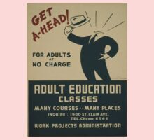 Vintage poster - Adult Education One Piece - Short Sleeve