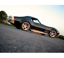 Sunset on the Vette Photographic Print