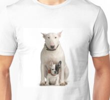 English Bull Terrier & Frenchie Friend Unisex T-Shirt
