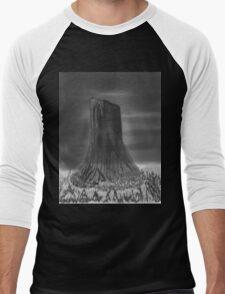 Devil's Tower, Wyoming Men's Baseball ¾ T-Shirt