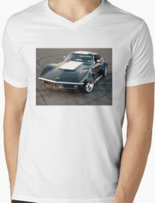 Shiny Vette Mens V-Neck T-Shirt