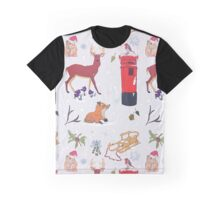 Christmasy Wildlife Graphic T-Shirt