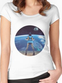 Show on! Women's Fitted Scoop T-Shirt