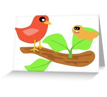 Hungry Birds Greeting Card