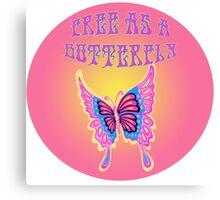 Free As A Butterfly Canvas Print