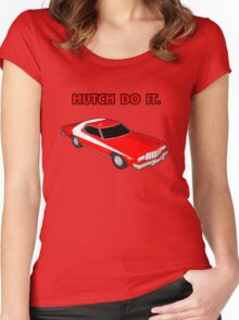 Hutch Do It Red Text. Women's Fitted Scoop T-Shirt