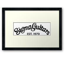 Sigma Guitar Framed Print