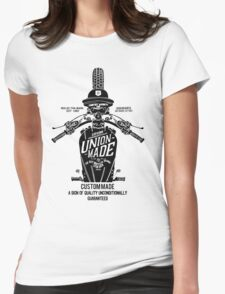 Custom Made, Union Made Motorcycle Womens Fitted T-Shirt