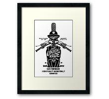 Custom Made, Union Made Motorcycle Framed Print