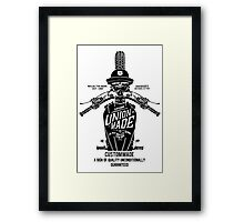 Custom Made, Union Made Motorcycle Framed Print