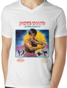 NES Jackie Chan Action Kung Fu  Mens V-Neck T-Shirt