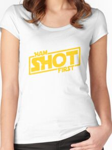 Hamilton Shot First Women's Fitted Scoop T-Shirt
