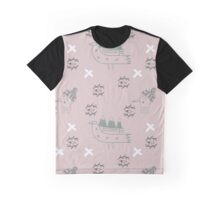 Mountain birds in rose Graphic T-Shirt