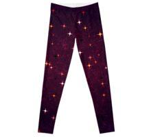 Stars Motif Grunge Pattern Leggings
