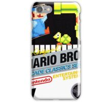 NES The Original Mario Brothers  iPhone Case/Skin