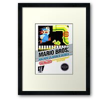 NES The Original Mario Brothers  Framed Print