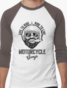 Live to ride motorcycle gangs Men's Baseball ¾ T-Shirt
