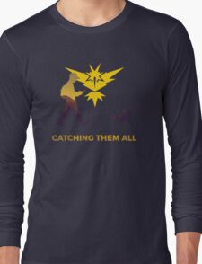 Pokemon Go - Catching Them All Team Instinct Eevee Long Sleeve T-Shirt