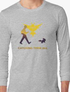 Pokemon Go - Catching Them All Team Instinct Eevee Long Sleeve T-Shirt