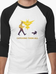 Pokemon Go - Catching Them All Team Instinct Eevee Men's Baseball ¾ T-Shirt