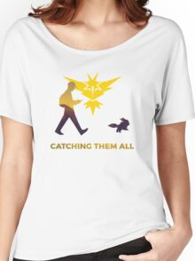 Pokemon Go - Catching Them All Team Instinct Eevee Women's Relaxed Fit T-Shirt