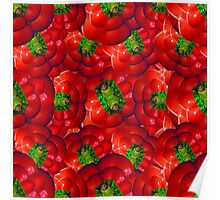 Vegetables pattern composition Poster