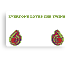 Everyone Loves The Twins 2 Canvas Print